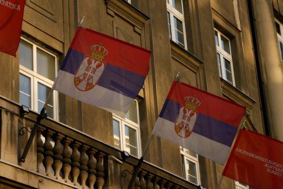 Serbian, national, flag, Belgrade