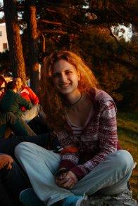 smile, girl, sunset, Belgrade