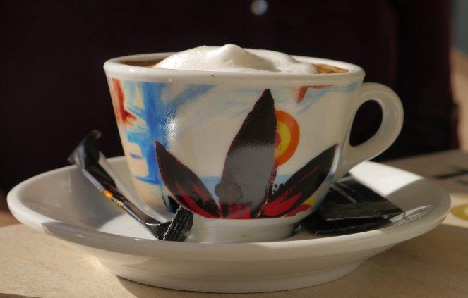 sun, cappuccino, foam, Belgrade, november