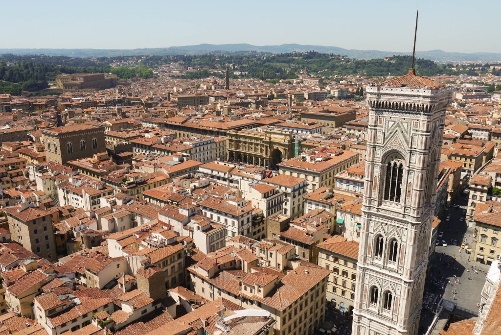 florence, duomo, tower, city from above