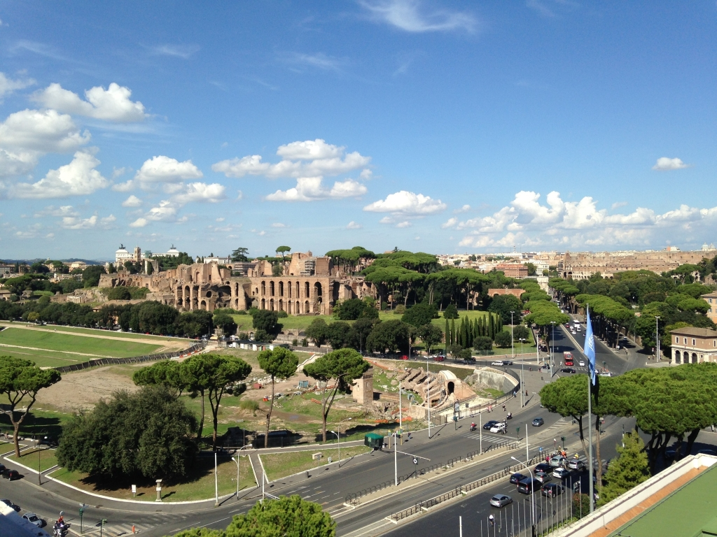 rome, colosseum, therme di caracalla