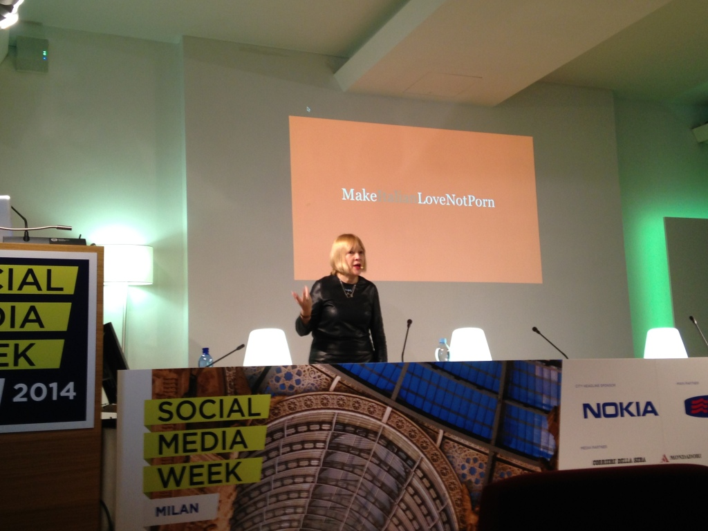 Cindy Gallop at Social Media Week, Milan