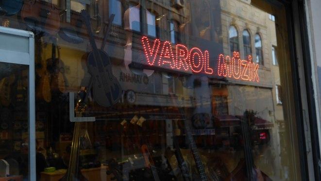 Music shop in Galip Dede Str