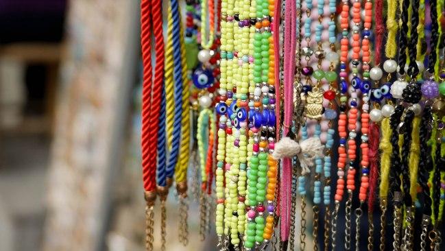 Souvenirs along Galip Dede Street