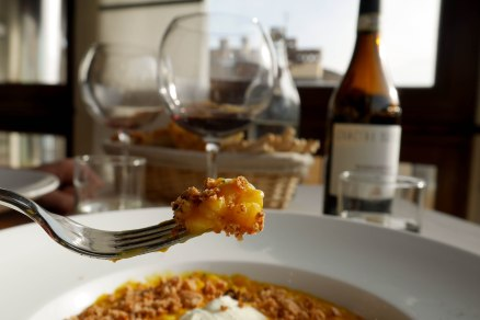 Pumpkin risotto with Blu cheese
