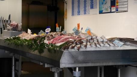 Fish market in Honfleur
