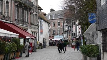Shopping street in Honfleur