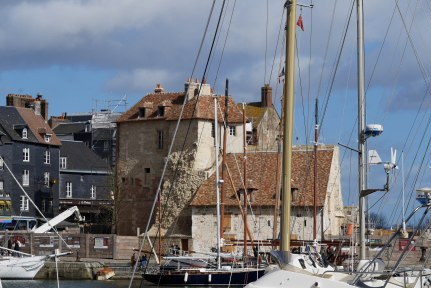 Historical building by the port